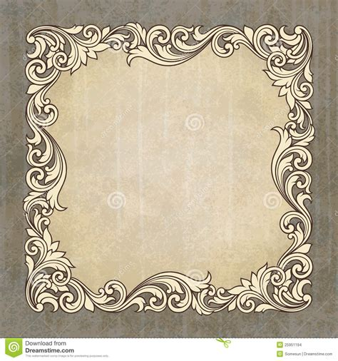 frame pattern free 18 baroque frame vector border images vector corner