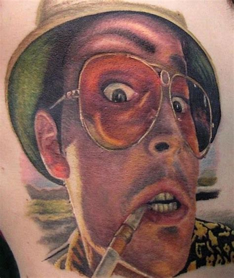 jamie davies tattoo johnny depp fear and loathing in las vegas done