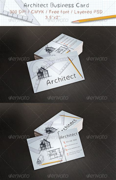 architecture business card architect business card business cards color print and