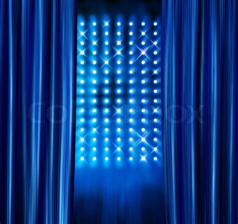 blue satin curtains blue satin curtains reveal stage spotlight ls wall