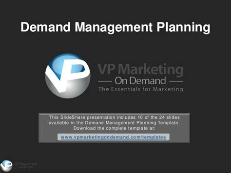 demand management plan template demand management powerpoint template
