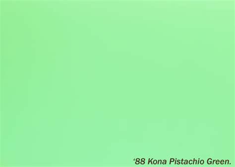 kona pistachio green ral number retrobike