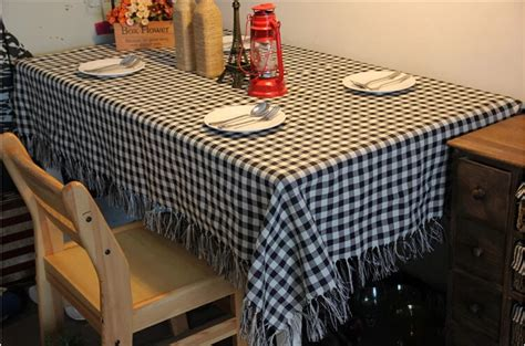 country style table linens free shipping zakka country style check design table cloth