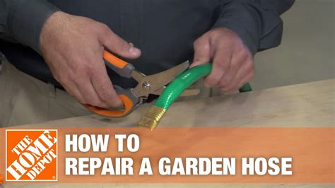 repair  damaged garden hose youtube