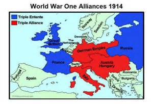 alliance map alliances are the a in the causes of ww1 ww1 board