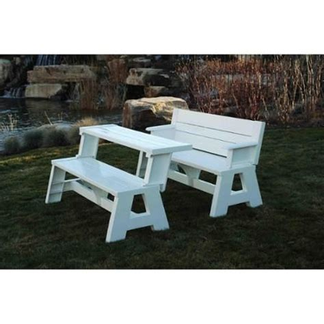 convert a bench folding picnic table pinterest the world s catalog of ideas