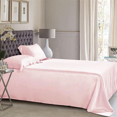 Light Pink Silk Flat Sheet