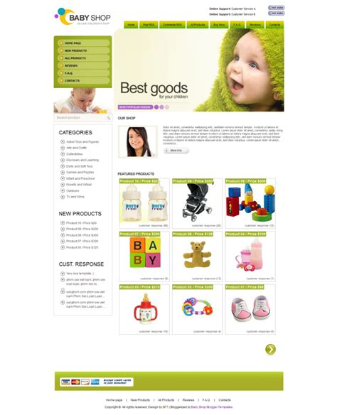 templates blogger shop baby shop blogger template nulled clone script