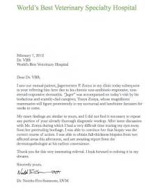 Curriculum Vitae Veterinarian by Cover Letter With Referral From Employee