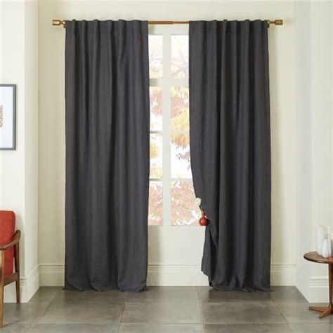 slate curtains belgian linen curtain in slate
