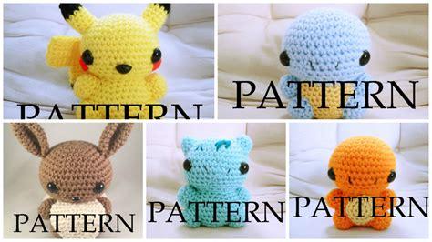 amigurumi pattern free pokemon amigurumi pokemon pattern pack of five by the love of