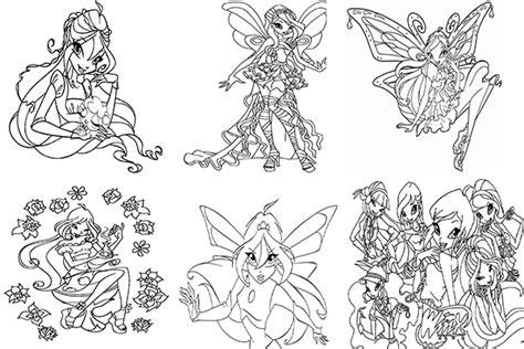 imagenes para colorear winx club dibujos winx club