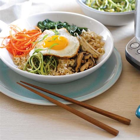 Main Dish Vegan Recipes - vegetarian bibimbap with crispy brown rice williams sonoma