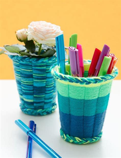 crafts yarn easy yarn crafts for cup weaving tutorial