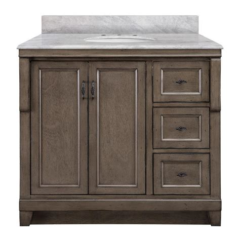 Foremost Naples Vanity White by Foremost Naples 37 In W X 22 In D Bath Vanity With Right