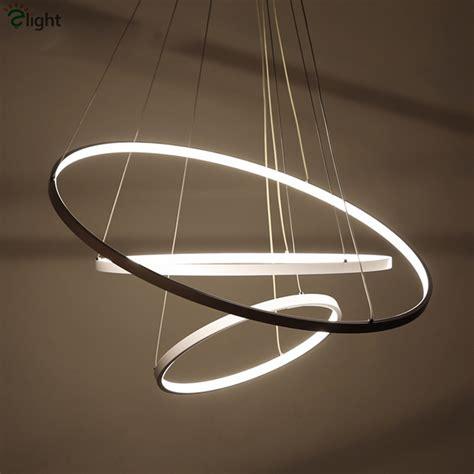 Luminaire Pendant Lighting Modern Minimalism Aluminium Lustre Led Pendant Light Diy Circle Luminaire Dimmable Led