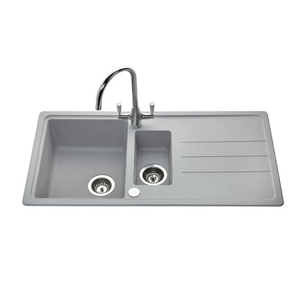 howdens kitchen sinks lamona light grey standard composite 1 5 bowl sink