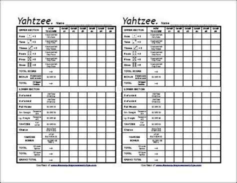 free yahtzee score card template printable yahtzee score sheets diy