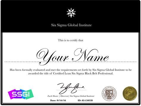 six sigma black belt certificate template lean six sigma black belt certification six sigma