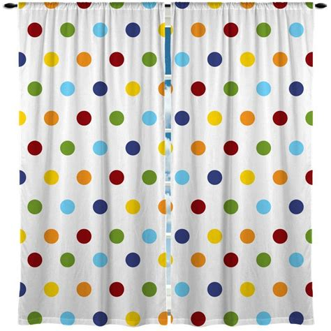 rainbow multi color polka dots window curtain products