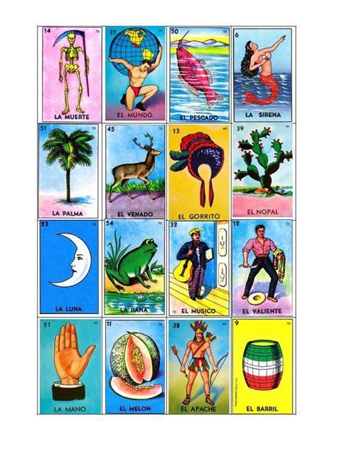 tablas de loteria mexicana para imprimir loteria mexicana 50 tablas digital para imprimir