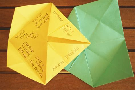 what to write in a paper chatterbox fortune teller revision activity a hive of activities