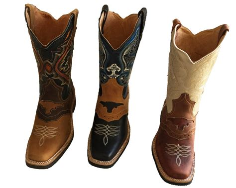 western square toe boots for cowboy boots genuine cowhide leather square toe rodeo