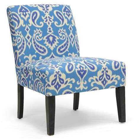 ikat slipper chair baxton studio phaedra paisley ikat modern slipper chair