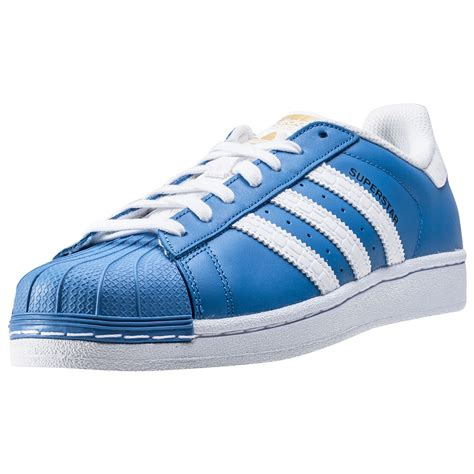 adidas superstar mens trainers blue white new shoes ebay