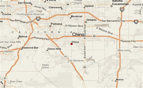 where is chino california on the map chino location guide
