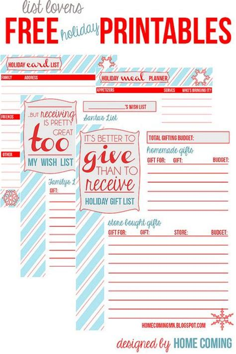 printable christmas planner pages christmas planner printable holiday pages for list