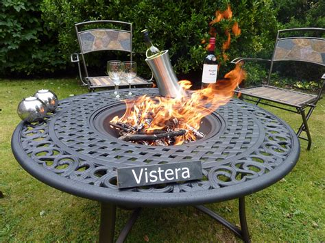 Firepit Uk Bloombury Cast Aluminium Pit Table