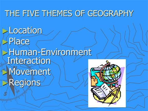 themes of geography human environment interaction the 5 themes of geography ppt video online download