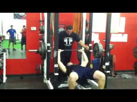 high school bench press record andrew trumbetti bench record youtube