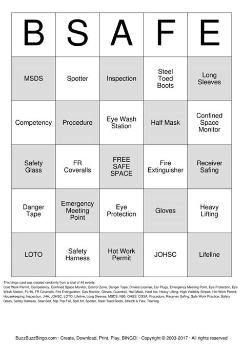 printable games to play at work safety bingo cards to download print and customize