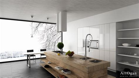 modern island kitchen unexpected twists for modern kitchens