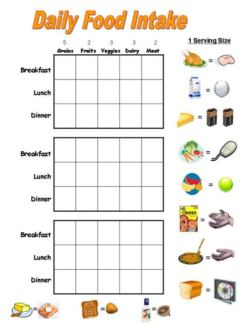 portion template weekly meal chart new calendar template site