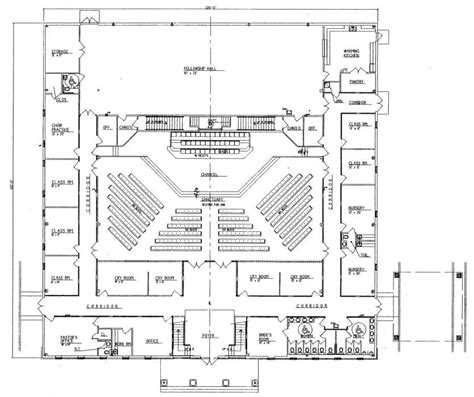 California Floor Plans by Church Plan 152 Lth Steel Structures