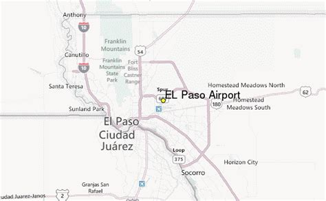 where is el paso texas located on a map el paso airport weather station record historical weather for el paso airport texas