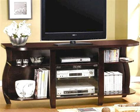 Media Console Glass Doors Transitional Media Console With Glass Doors And Shelves Co700659