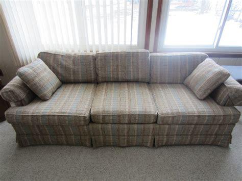 7 foot couch vintage drexel heritage sofa 7 feet herculon fabric wears