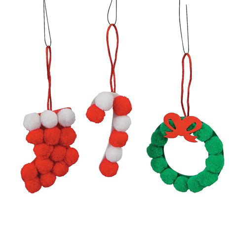 pom pom christmas ornament craft kit oriental trading