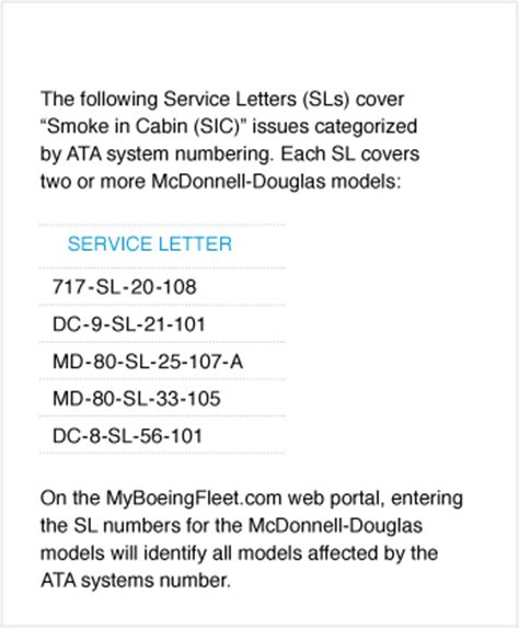 Service Letter Sl 80 Aero Reducing Smoke And Burning Odor