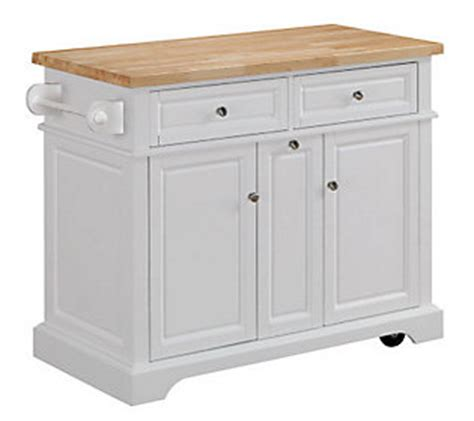 wheeled kitchen island tresanti summerville rolling kitchen island qvc