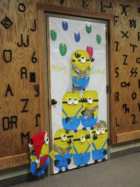 pinterest classroom door decorations christmas a minion door decorations doors bulletin board and