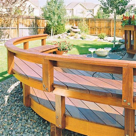 garden bench made from decking 17 best images about built in deck seating benches