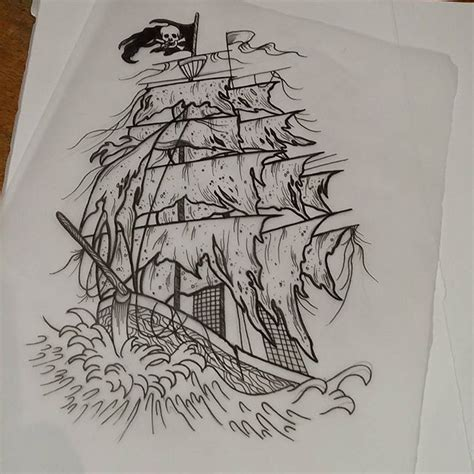 ghost ship tattoo designs 9 pirate ship tattoos designs