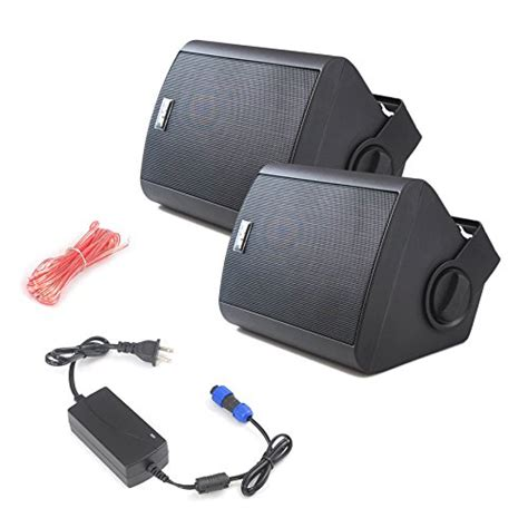 backyard speaker system pyle pdwr52btbk wall mount waterproof bluetooth speakers