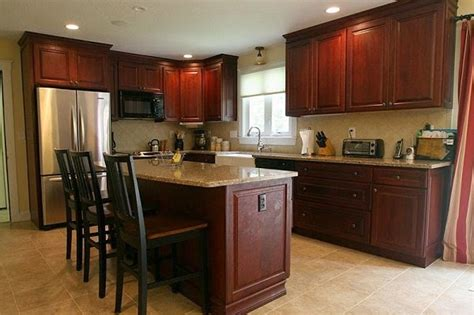 all home modern cherry kitchen cabinets