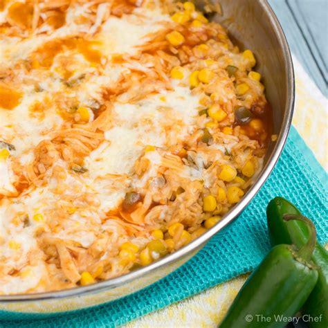 pantry enchilada chicken skillet dinner recipe the weary